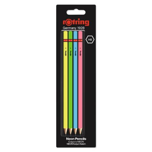 Rotring ołówek neon wpc hb blister 4 sztuki