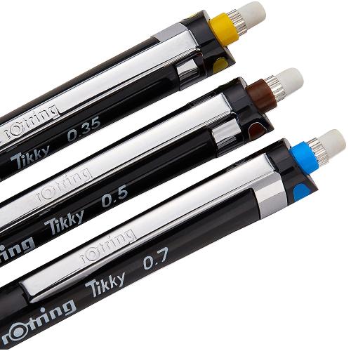 Rotring zestaw ołówków automatycznych tikky 3szt 0,35 0,5 0,7