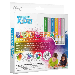 Chameleon kidz blend & spray 24 color creativity kit