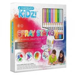 Chameleon kidz spray station 20 color creativity kit