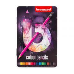 Bruynzeel zestaw 12 kolorowych kredek w metalowym opakowaniu
