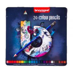 Bruynzeel zestaw 24 kolorowych kredek w metalowym opakowaniu