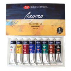 Ładoga zestaw farb olejnych w tubie 8x18ml