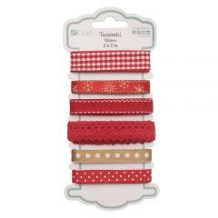 DP Craft red glamour zestaw tasiemek 6 x 2m
