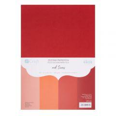 DP Craft zestaw papierów kolorowych odcienie czerwieni A4 220g 20 arkuszy