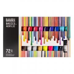 Liquitex zestaw farb akrylowych basics 72x22ml