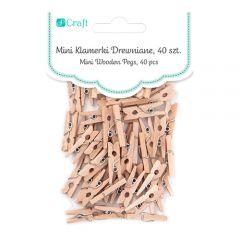 DP Craft klamerki drewniane naturalne mini 2,5cm 40 sztuk