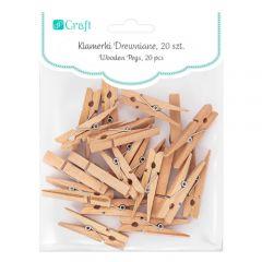 DP Craft klamerki drewniane naturalne 4.8cm 20 sztuk