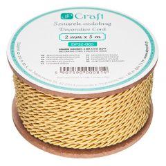 DP Craft sznurek ozdobny 2mm x 5m złoty