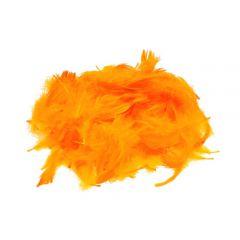 Piórka dekoracyjne dł. ok. 12cm pomarańczowe PIM-40