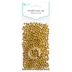DP Craft koraliki złote 5mm 40g